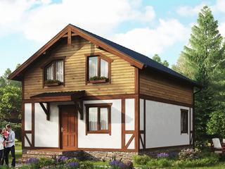 Дом в альпийском стиле.