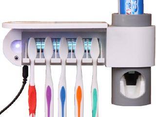 Ультрафиолетовый стерилизатор зубных щеток, держатель и дозатор пасты.
