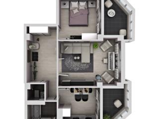 Dat in exploatare - Apartament 2 odai - varianta alba