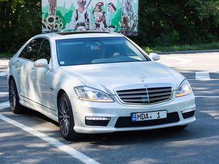 Mercedes-Benz S Class Alb/Белый - 20 €/ora (час) & 110 €/zi (день)