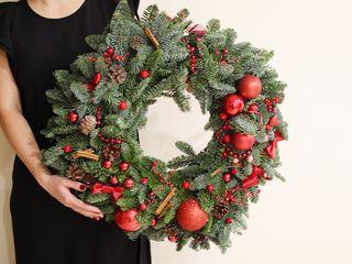 Рождественский венок от Miaflori.md