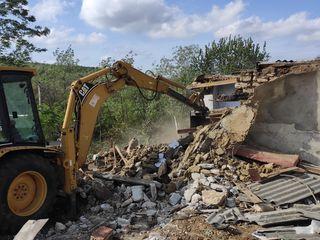 Копание+вывоз грунта. Снос зданий. Демонтаж техникой