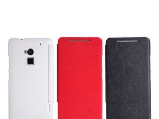 HTC One Max кожаный чехол  Nillkin,защитная плёнка