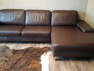 Canapea de colt Italiana din piele naturala marca Carina