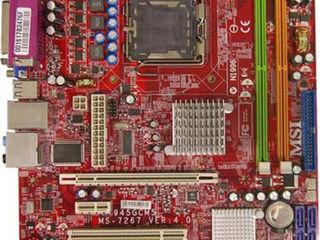 MB socket 775 cu procesor si culer.