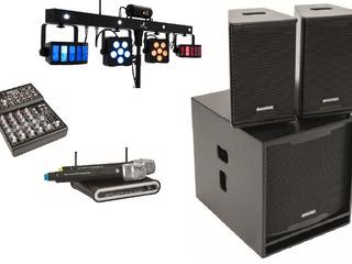 Chirie boxe, radio microphone, mixer, lumini disco, stative p/u boxe