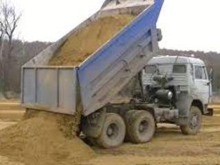 Nisip, pietris, prundis, P.G.S, ciment, lut(argila) but, beton, moluza. Reduceri.Livrare