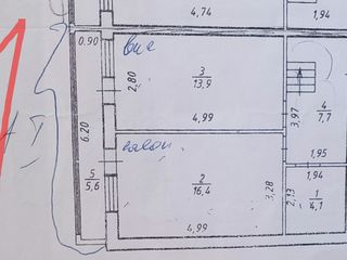 De vinzare apartament in doua nivele, trei camere, Botanica, 95mp.