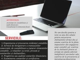 Servicii de evidență contabilă și audit financiar; consultanță fiscală.