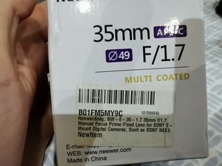 Neewer 35mm f1.7
