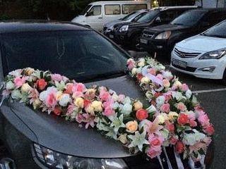 Flori pentru aranjarea automubilelor la Nunti pentru mire si mireasa