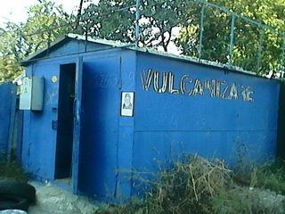Vagon de garaj sau volkanizare