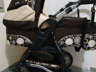 Красивая колясочка 2 в1      Baby Merk цвет шоколадки!