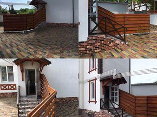 Club home pentru 4 familii - 93 m2 = 3 dormitoare + living - hol. curte individuala pentru fiecare a