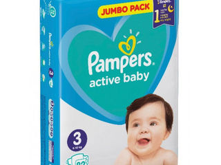 Pampers подгузники Jumbo 3, 5-9кг. 82шт