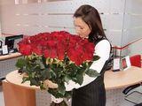Trandafiri 80cm-livrare gratis in Chisinau ,surprize la domiciliu