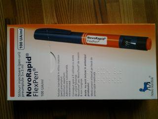 Инсулин NovoRapid.Пять ручек в коробке..Цена коробки 290 лей. Инсулин NovoRapid.