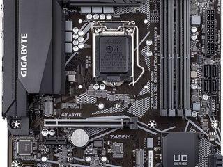Placa de baza gigabyte z490m  материнская плата