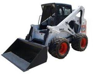 Bobcat 873H, планировка, уборка снега
