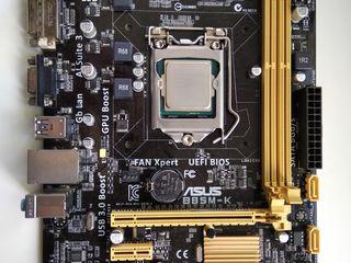 MB Asus B85M-K socket 1150  + Intel G3240 3.1Ghz