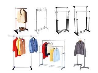 Вешалка стойка для одежды с выдвижными штангами Tatkraft
