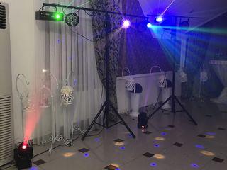 Dj + lumini show + fum