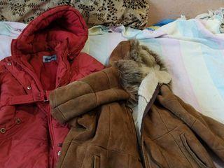 Продаются : дубленка и куртка для девочки, б/у, в отличном состоянии