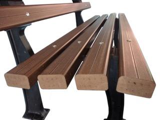Scaun din lemn plastifiat ( WPC, decking )  Стул для парка из дпк (древесно полимерный композит)