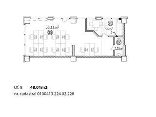 Spațiu comercial sectorul Rîșcani 48 m2