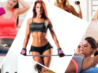 Фитнес инвентарь для женщин. Inventari sportiv pentru femei