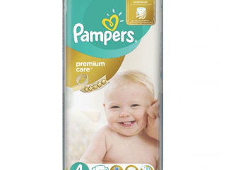 Pampers подгузники Premium Care 4, 7-14кг. 52шт
