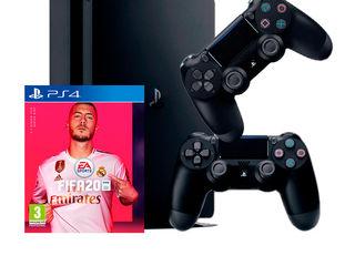 PlayStation 4 Slim 1 TB + FIFA20 + два Dualshock4