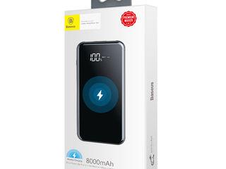 Беспроводное зарядное устройство Power Bank для iPhone/Samsung/Xiaomi.