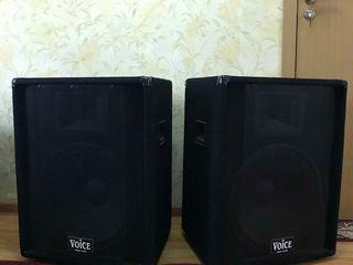 Vand 2 boxe pasive ,, m - voice '' 1000 wati dinamic la 15 diuimi , 200 Euro - perechea , noi !!!