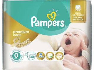 Pampers Подгузники Premium Care 0, 1-2,5 кг, 30 шт