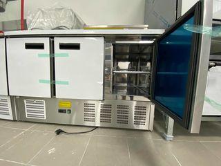 Masă frigider din inox cu 3 usi