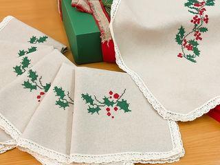 Set: față de masă cu tematica Sărbătorilor de iarnă
