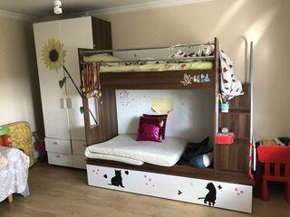 Двухярусная кровать с шкафом!