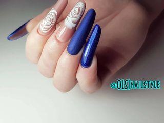 Профессиональное наращивание ногтей, дизайн, коррекция, аппаратный маникюр.