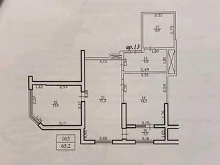 Vind apartament 2 dormitoare in  sectorul Riscani