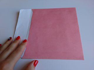 Конверты розовые 16,5*14,5 см недорого
