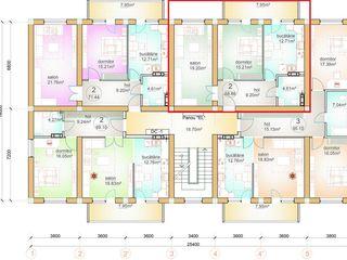Se vinde apartament 2 camere Ghidighici