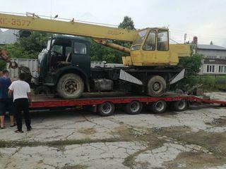 Перевозка негабаритных грузов техники есть лебедка для погрузки аварийной Техники