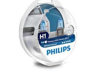 Lampi auto xenon,halogen philips whitevision (+60%) - h1,h3,h4,h7,h8,h11,hb3,hb4,d1s,d2s,d2r,d3s