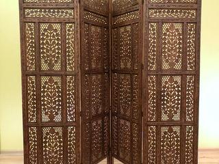 Индийская ширма ручной работы, из древесины шишам