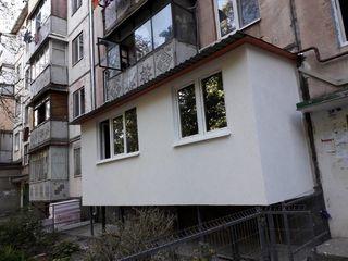 Renovarea și extinderea balcoanelor și loggii. Zidire din gazobloc. Alungirea,demolarea balconului