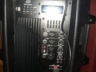 Boxa activa ,,ubl '', microfoane , bluetooth, usb, cu puterea de 500 w