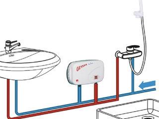 Instalarea încălzitorului de apă instant