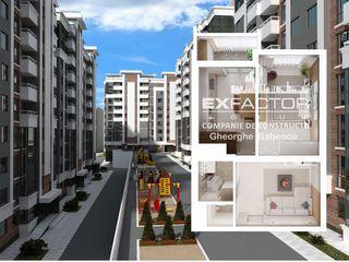Exfactor Grup - Buiucani 1 cameră 48 m2, et. 3 la cel mai bun preț, direct de la dezvoltator!