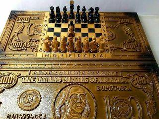 """В наличии нарды резные шахматы """"Сто Долларов"""" эксклюзив"""